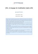 UML, le langage de modélisation objet unifié
