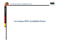 Les réseaux wifi: méthode d'accèes