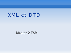 xml et dtd