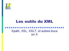 Les outils du XML