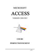 Access 2003 2éme partie