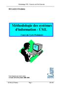 Méthodologie des systèmes  d'information - UML