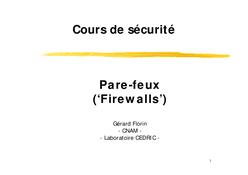 Cours Pare-feux (Firewalls)