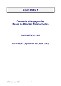Cours SGBD 1
