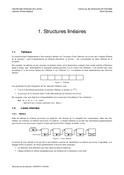 Structures linéaires