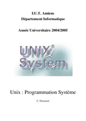 Programmation Système unix