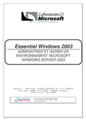 Essentiel Windows 2003