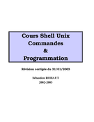 Cours Shell Unix