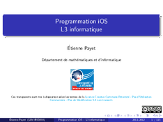 Programmation iOS