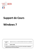 Support de Cours Windows 7