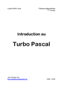 Introduction au Turbo Pascal
