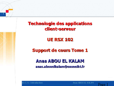 Technologie des applications client-serveur