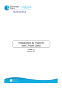 Virtualisation de Windows dans Ubuntu Linux
