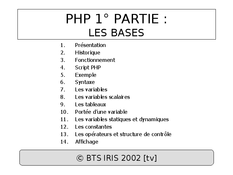 PHP : Les bases
