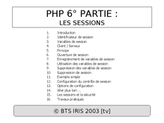 PHP : Les sessions