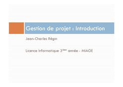 Gestion de projet : Introduction