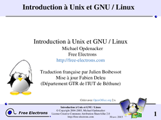 Introduction à Unix et GNU / Linux