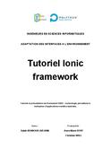 Tutoriel Ionic framework