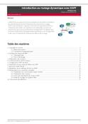 Introduction au routage dynamique avec OSPF