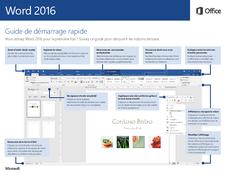 Word 2016 Guide de démarrage rapide