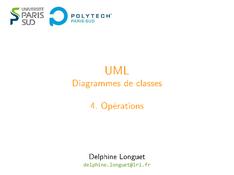 UML: Diagrammes de classes - Opérations