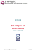 Bien configurer son Active Directory