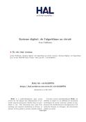 Système digital de l'algorithme au circuit