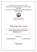 Programmation Orientée Objets en C++